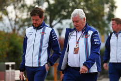 Rob Smedley, Williams, responsable de rendimiento del vehículo con Pat Symonds, Director Técnico de
