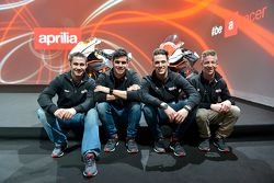 Leon Haslam, Aprilia Racing Team et Jordi Torres, Aprilia Racing Team