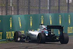 Felipe Massa, Williams FW37 y su accidente
