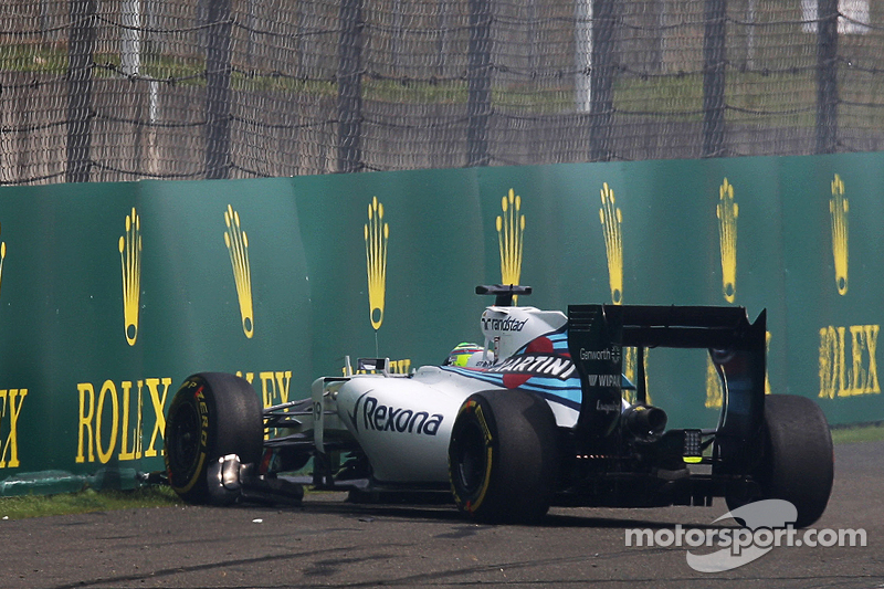 Felipe Massa, Williams FW37 y su accidente