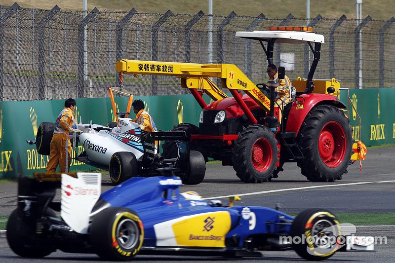 Felipe Massa, Williams FW37, después del accidente