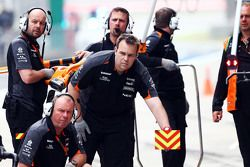 Les mécaniciens de Sahara Force India F1 Team