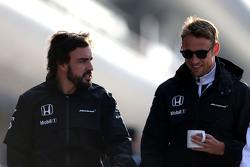 Fernando Alonso, McLaren Honda, y Jenson Button, McLaren Honda