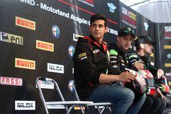 Jordi Torres, Aprilia Racing Team et Jonathan Rea, Kawasaki