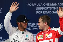 Льюис Хэмилтон, Mercedes AMG F1 Team и Себастьян Феттель, Scuderia Ferrari