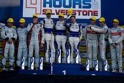 Podium: second place Simon Dolan, Filipe Albuquerque , Harry Tincknell, winners Bjorn Wirdheim, Jon