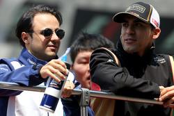 Felipe Massa, Williams F1 Team, und Pastor Maldonado, Lotus F1 Team