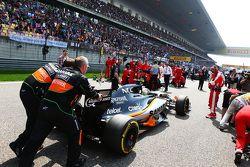 Серхио Перес, Sahara Force India F1 VJM08 на стартовой решетке