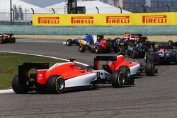 Will Stevens, Manor F1 Team saat start balapan