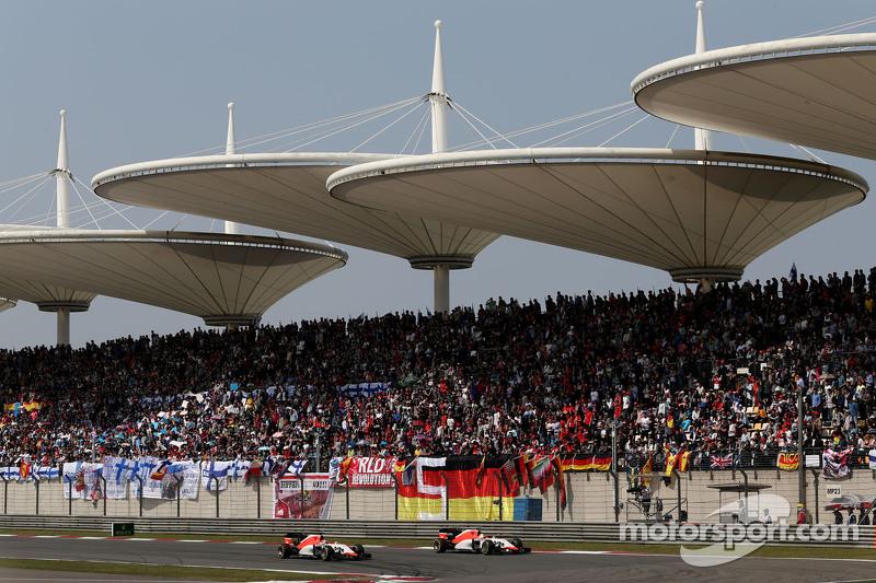 Roberto Merhi, Manor F1 Team and Will Stevens, Manor F1 Team