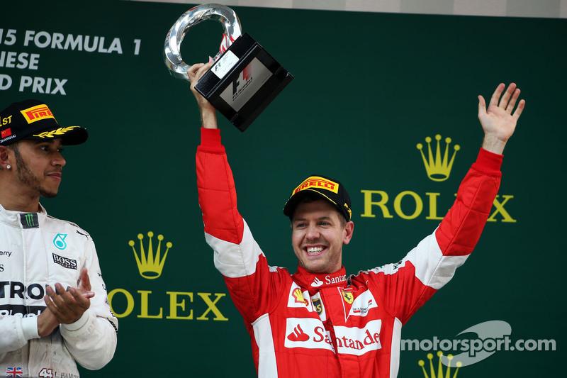 В своем первом сезоне за Скудерию Феттель искренне радовался даже третьему месту в гонке