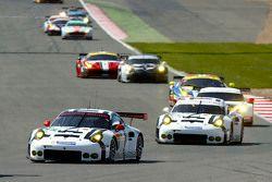#91 Porsche Team Manthey 911 RSR: Richard Lietz and Michael Christensen and #92 Porsche Team Manthey 911 RSR: Patrick Pilet and Frederic Makowiecki