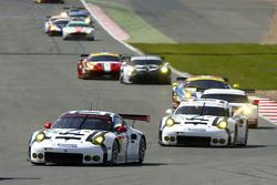 #91 Porsche Team Manthey 911 RSR: Richard Lietz and Michael Christensen and #92 Porsche Team Manthey