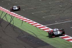#7 Audi Sport Team Joest R18 e-tron quattro : Marcel Fassler, Andre Lotterer, Benoit Tréluyer et la #8 Audi Sport Team Joest R18 e-tron quattro : Lucas di Grassi, Loic Duval, Oliver Jarvis