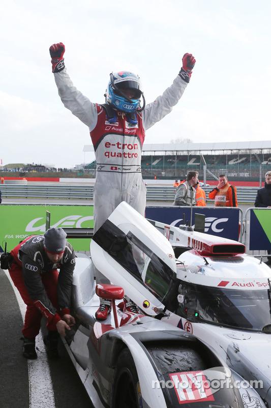 Para juara balapan: #7 Audi Sport Team Joest R18 e-tron quattro: Marcel Fassler, Andre Lotterer, Benoit Tréluyer