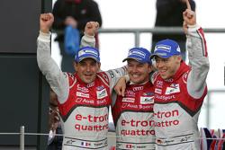 Race winners: Benoit Tréluyer, Marcel Fassler, Andre Lotterer