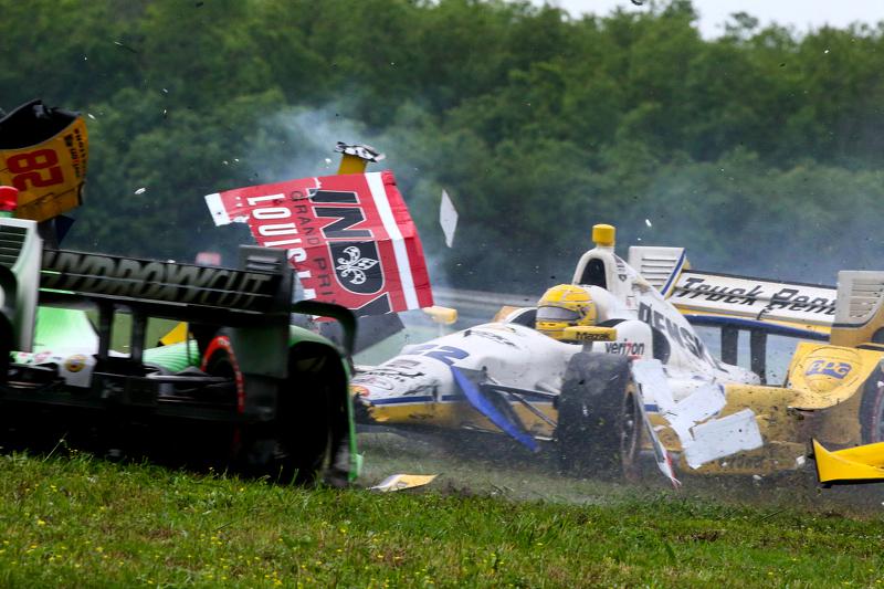 Simon Pagenaud, Team Penske Chevrolet, Ryan Hunter-Reay, Andretti Autosport Honda and Sebastien Bour