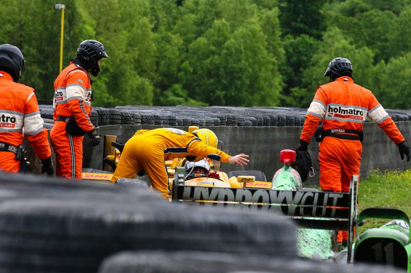 Simon Pagenaud, Team Penske Chevrolet and Sebastien Bourdais, KVSH Racing