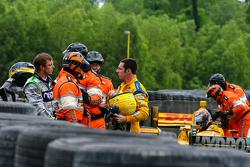 Simon Pagenaud, Team Penske Chevrolet et Sebastien Bourdais, KVSH Racing