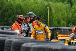Sebastien Bourdais, KVSH Racing and Simon Pagenaud, Team Penske Chevrolet