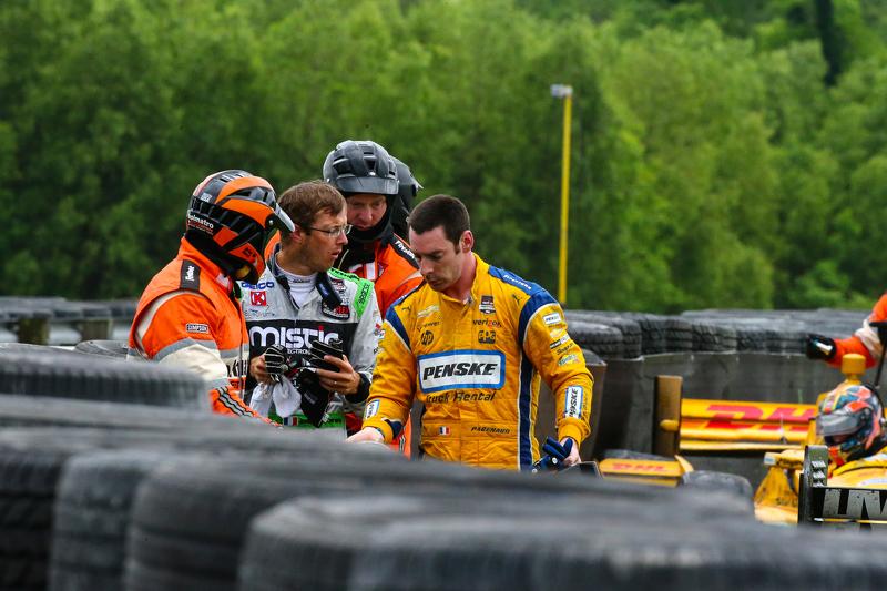 Sebastien Bourdais, KVSH Racing and Simon Pagenaud, Team Penske Chevrolet
