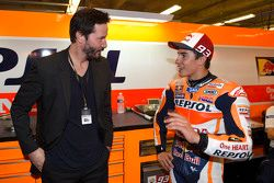 Keanu Reeves and Marc Marquez, Repsol Honda Team
