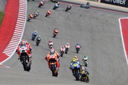 Andrea Dovizioso, Ducati Team, Marc Marquez, Repsol Honda Team et Valentino Rossi, Yamaha Factory Racing