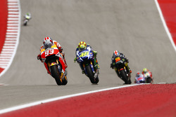 Marc Marquez, Repsol Honda Team and Valentino Rossi, Yamaha Factory Racing and Bradley Smith, Yamaha