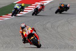 Marc Marquez, Repsol Honda Team, Valentino Rossi, Yamaha Factory Racing et Bradley Smith, Yamaha Tech 3