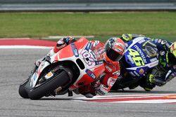 Andrea Dovizioso, Ducati Team et Valentino Rossi, Yamaha Factory Racing