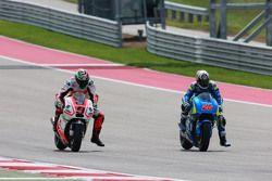 Maverick Viñales, Team Suzuki MotoGP et Danilo Petrucci, Pramac Racing