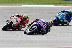 Jorge Lorenzo, Yamaha Factory Racing, Andrea Iannone, Ducati Team et Aleix Espargaro, Team Suzuki MotoGP