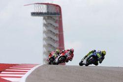 Valentino Rossi, Yamaha Factory Racing and Andrea Dovizioso and Andrea Iannone, Ducati Team