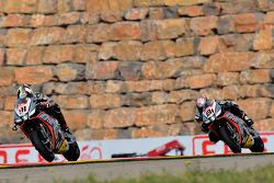 Leon Haslam, Aprilia Racing Team, and Jordi Torres, Aprilia Racing Team