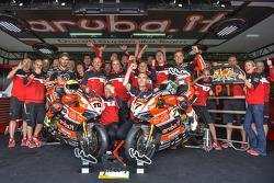 Ducati Team celebrates the win