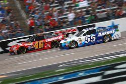 Michael Annett, HScott Motorsports Chevrolet and Brett Moffitt, Michael Waltrip Racing Toyota