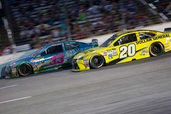 Brian Scott, Richard Childress Racing Chevrolet and Matt Kenseth, Joe Gibbs Racing Toyota