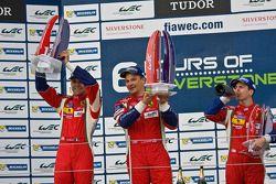 GTE Pro podium: winners Gianmaria Bruni, Toni Vilander