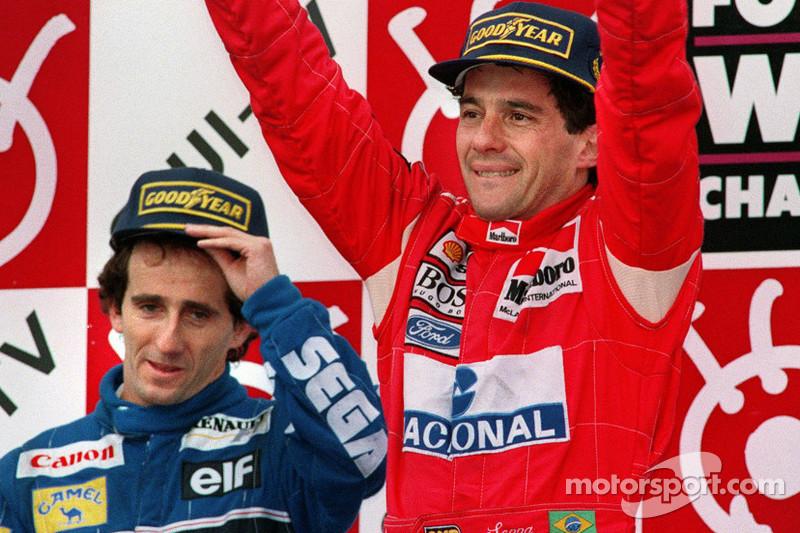 No final daquele ano, Ayrton e Alain fizeram a dobradinha nas duas últimas provas - os GPs do Japão e da Austrália. Nas duas, Senna venceu, com Prost em segundo.