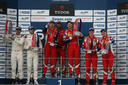 GTE Pro podium: winners Gianmaria Bruni, Toni Vilander, second place Richard Lietz, Michael Christen