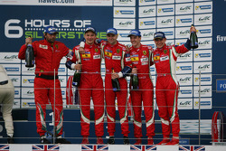 GTE-Pro-Podium: 1. Gianmaria Bruni, Toni Vilander; 3. James Calado, Davide Rigon