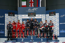 GTE Am podium: winners Paul Dalla Lana, Mathias Lauda, Pedro Lamy, second place François Perrodo, Em