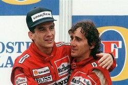 Ayrton Senna y Alain Prost, coequiperos y rivales con McLaren