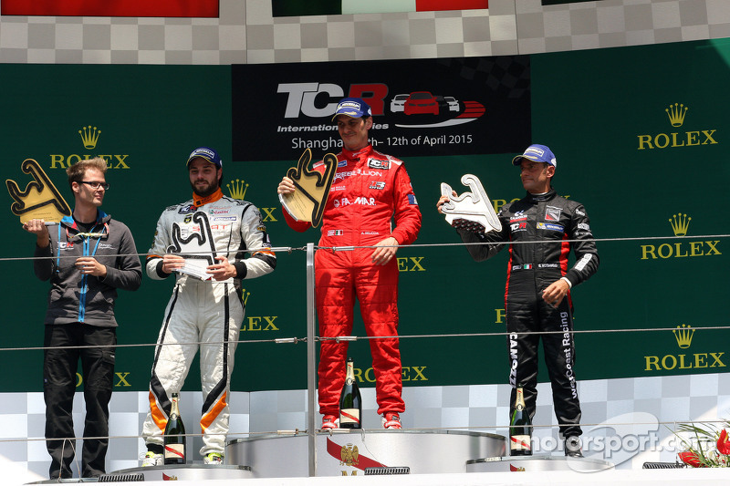 Podium Race 2: First place Andrea Belicchi, SEAT Leon Racer, Target Competition, Second place Stefan