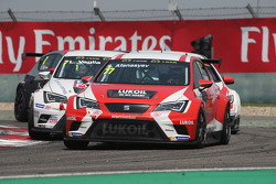 Sergey Afanasyev, SEAT Leon Racer, Team Craft-Bamboo LUKOIL and Lorenzo Veglia, Liqui Moly Team Engs