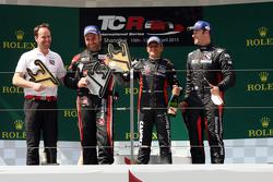 Podium Race 1: 1st position Gianni Morbidelli, Honda Civic TCR, West Coast Racing 2nd position Rene Munnich, Honda Civic TCR, West Coast Racing