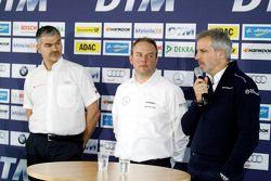 Dieter Gass, Ullrich Fritz, HWA AG, Jens Marquardt à la journée médias du DTM
