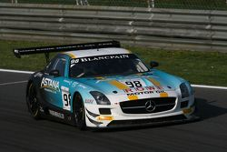 #98 Team Astana by Rowe, Mercedes SLS AMG GT3: Nicolai Sylvest, Indy Dontje, Daniel Juncadella