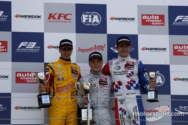 Podyum: İkinci Antonio Giovinazzi, Jagonya Ayam ile Carlin ve İlk sıra Felix Rosenqvist, Prema Power