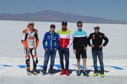 Jack Miller, Maverick Viñales, Yonny Hernández, Danny Kent y Luis Salom